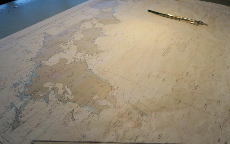 にっぽん丸 ブリッジツアー01 海図