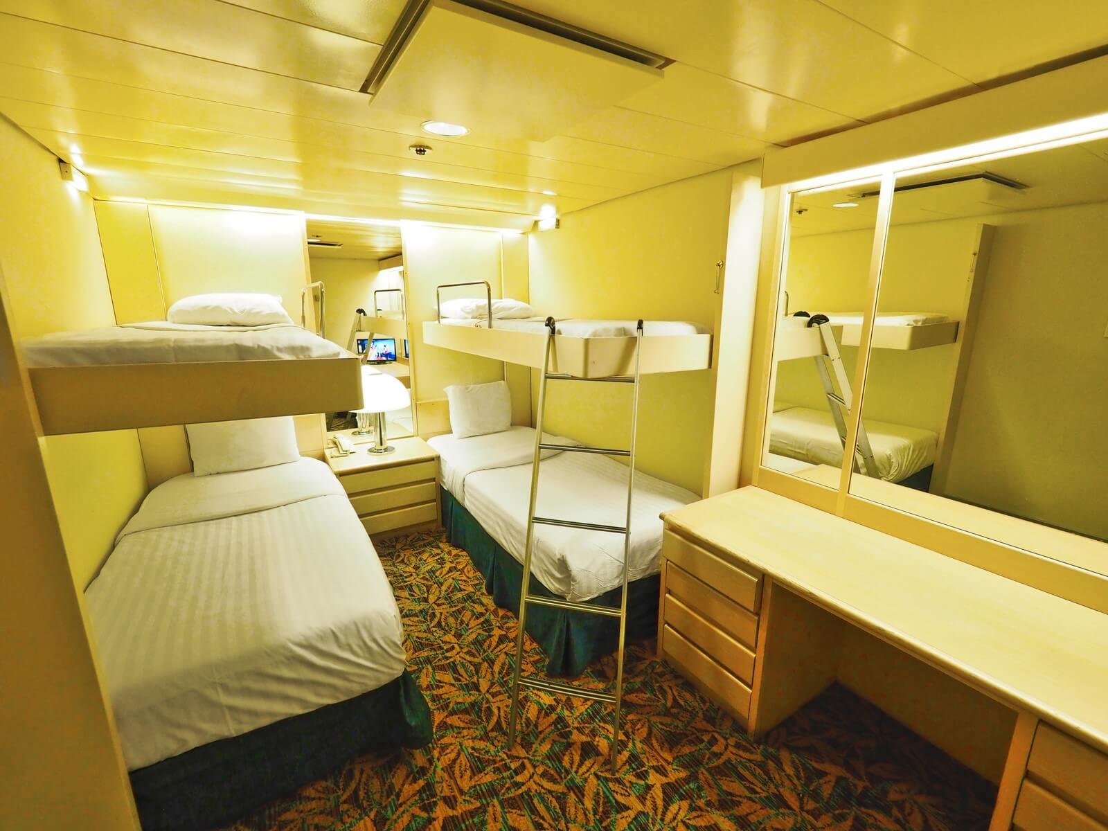 ピースボートプレミアム 客室 エコノミー フレンドリー
