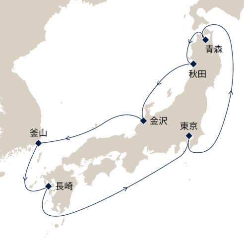 初夏の日本周遊10日間