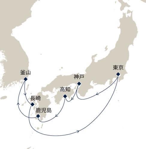 春の日本周遊クルーズ10日間