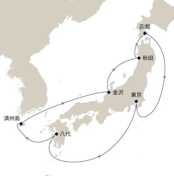 2021年4月23日発 日本一周クルーズ10日間 行程と料金