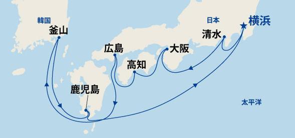 輝きの黒潮海道と韓国 10日間(A)