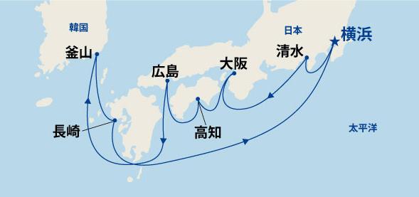 輝きの黒潮海道と韓国 10日間(B)