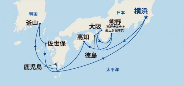 熊野大花火と四国・九州と韓国 10日間