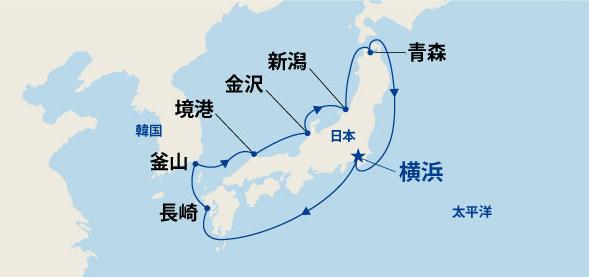 春の日本海と韓国 10日間