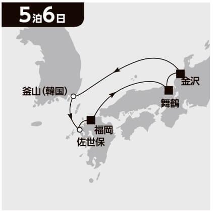 韓国 九州満喫クルーズ 6日間
