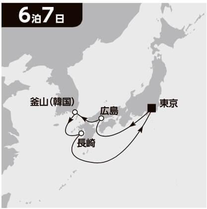 太平洋ゆったりクルーズ 7日間