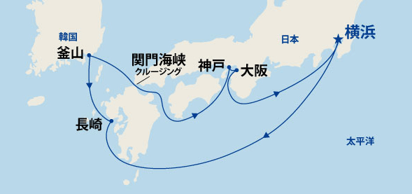 天神祭でにぎわう大阪・神戸と九州・韓国 9日間