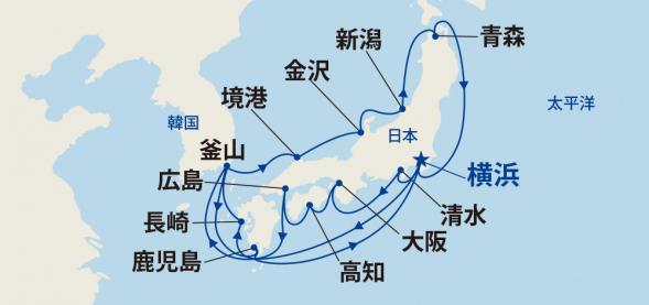 輝きの黒潮海道と春の日本海・韓国 19日間