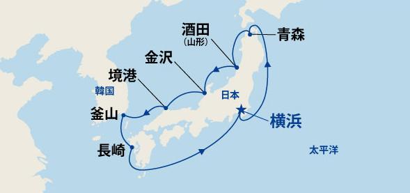 北前航路と九州・韓国 10日間(B)