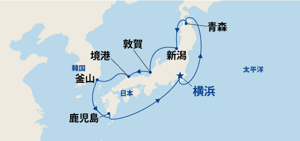 北前航路と九州・韓国 10日間(A)