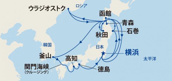 日本の夏!竿燈・ねぶた・よさこい・阿波おどりに沸く周遊クルーズ・ウラジオストクと韓国 19日間