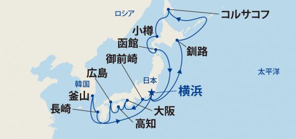 輝きの黒潮海道と北海道周遊・サハリン・韓国 18日間