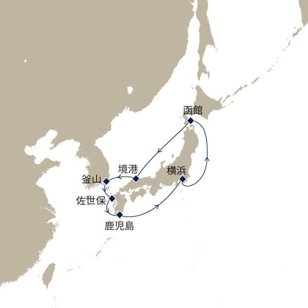 新緑の日本周遊と韓国10日間
