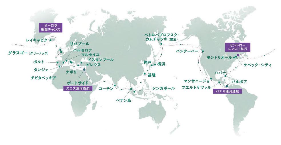 2022年8月ゼニス号クルーズマップ
