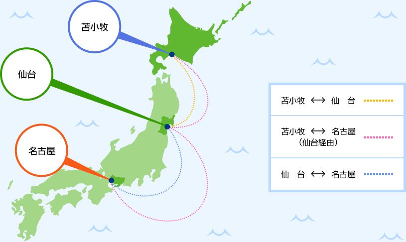 太平洋フェリー運行マップ