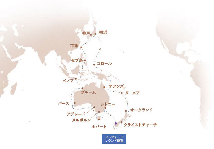 2022年12月ゼニス号クルーズマップ