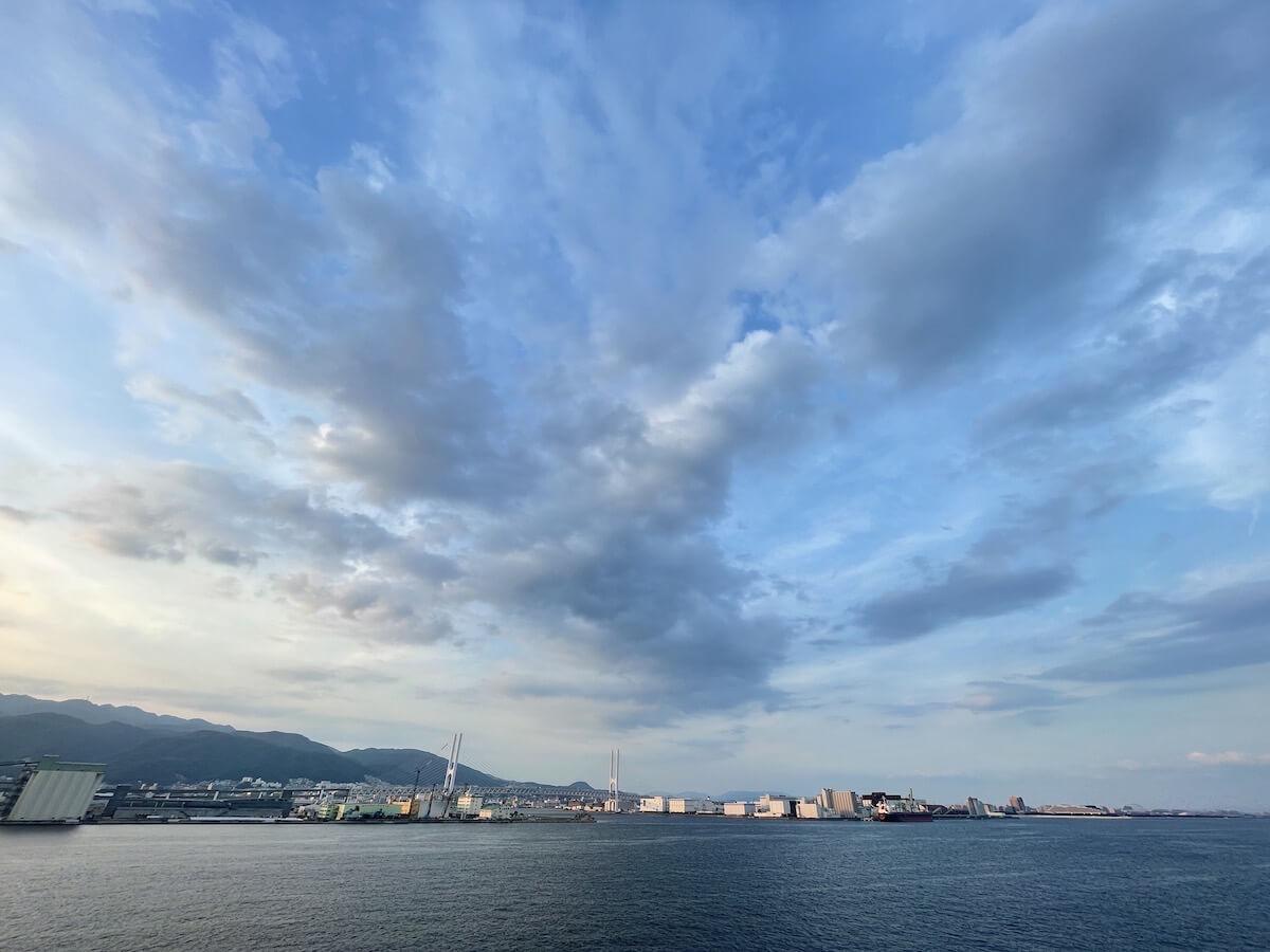 阪九フェリー就航風景1