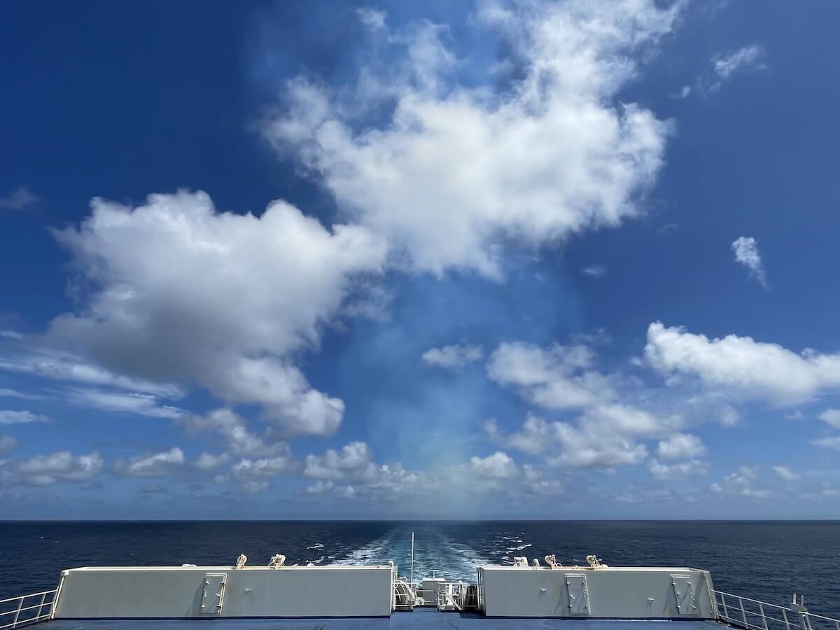新日本海フェリー 展望デッキ3