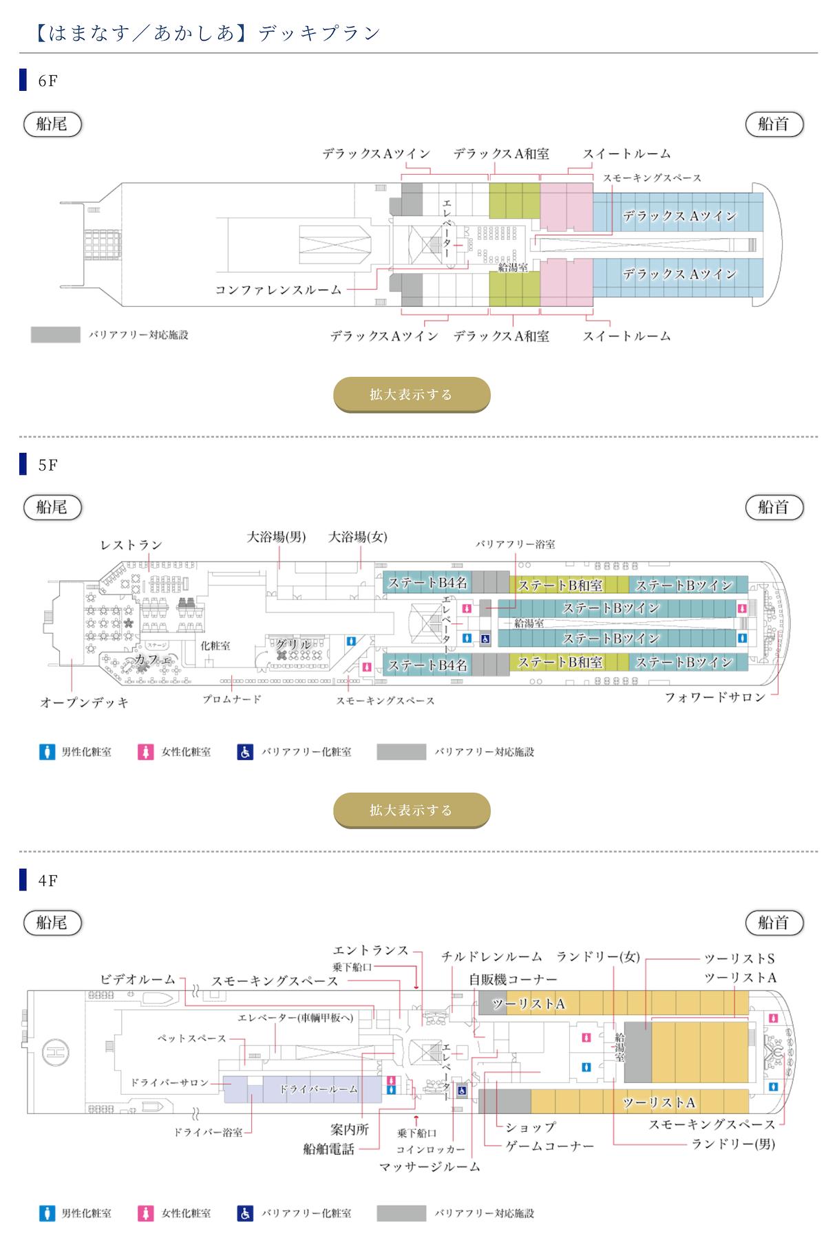 新日本海フェリー デッキプラン