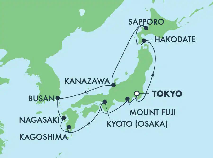 10月28日 木 秋の日本周遊と韓国クルーズ13日間