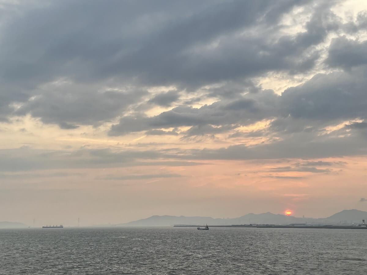 阪九フェリー就航風景2